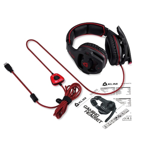 KLIM Mantis - Micro Gaming Headset with Mic - USB 7.1 - High Quality - For PC PS4 Gaming [ New Version ] - product photo 3
