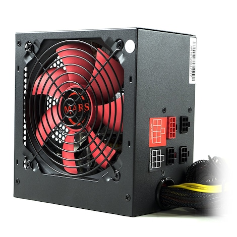 Mars MPII750 Gaming - PC Gaming power supply (750W, ATX, 12 cm fan, PFC Active, single rail 12V)