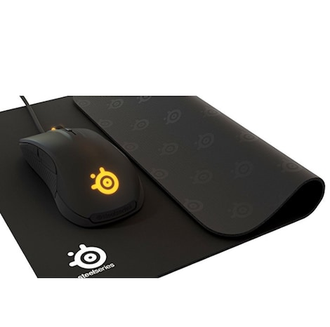 SteelSeries QcK, Gaming Mouse Pad - 320mm x 270mm x 2mm - Cloth - Rubber Base - Black - product photo 3
