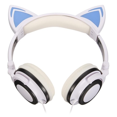 Wired Cat Ears Headphone - Gaming Headset With LED Light 3.5mm ...