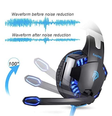 Headphone with Mic for PC Computer Game  - Comfortable LED 3 . 5mm Stereo Gaming LED Lighting - product photo 5