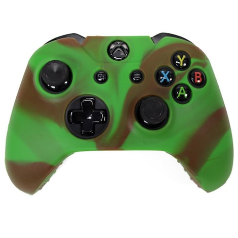 [REYTID] Xbox ONE Controller Skin Silicone Protective Rubber Cover Gel Grip Case - Green/Brown Multi-colour XBOX ONE