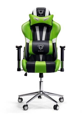 DIABLO X-EYE Gaming Chair Black & white & green