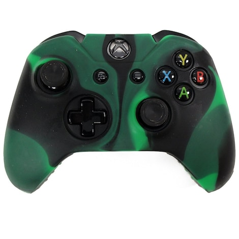 [REYTID] Xbox ONE Controller Skin Silicone Protective Rubber Cover Gel Grip Case - Green/Black Multi-colour XBOX ONE