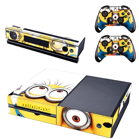 [REYTID] Xbox One Console Skin / Sticker + 2 x Controller Decals & Kinect Wrap - Minions Multi-colour XBOX ONE