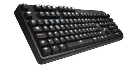 Mechanical Keyboard with led and red switches, Nordic