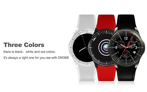 DOMINO DM368 3G Smartwatch - Quad-Core CPU, 1 IMEI, Bluetooth 4 0, Android  OS, 3G, 8GB Storage, 400mAh Battery Black