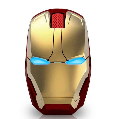 1600DPI Adjustable Iron Man LED Wireless USB Game Mice Mouse & Mouse Pad Laptop
