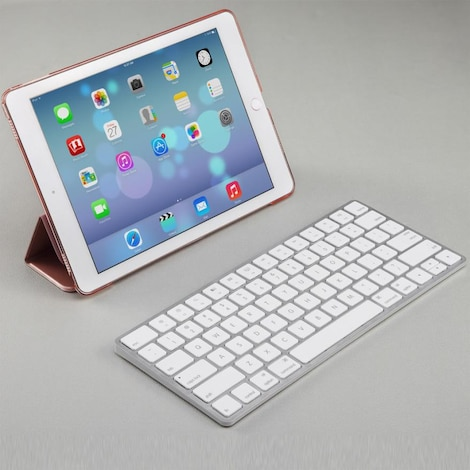 Bluetooth Wireless Keyboard  White Plastic