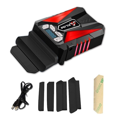 KLIM Cool Universal Gaming Laptop PC Cooler - USB Hot Air Extractor Red - product photo 2