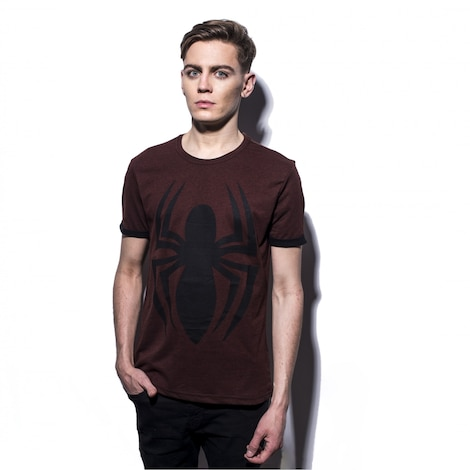 MARVEL: Spider-Man Discharge Print Men's T-Shirt M Red