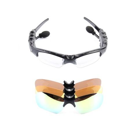 Bluetooth Sports Sunglasses Headphones Black - photo do producto 1