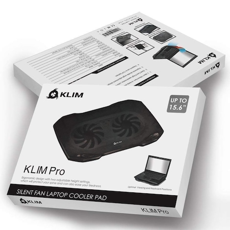 """KLIM Pro - The Laptop Cooler for Professionals - Laptop PC Support - 10"""" to 15,6"""" -  Extra USB port - product photo 2"""