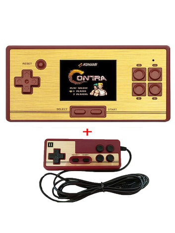 "AV Output Classic Retro Game TV Console Two Players Handheld Portable 2.6"" 600 Games Pocket"