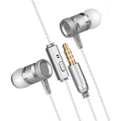[REYTID] In-Ear Earphones Headphones - HD Sound, Heavy DEEP Bass w/ MIC for iPhone / Android - White White
