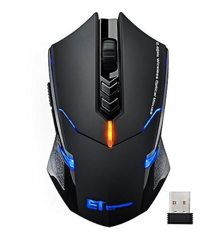 Wireless Mouse, VicTsing Quiet Click 7 Buttons 2.4G Optical