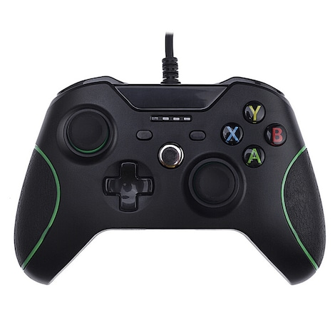 [REYTID] Xbox One WIRED Controller with 3.5mm jack - Black - Game Pad Gaming Control Bluetooth XB1 S