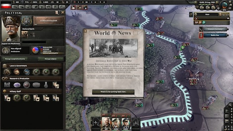 Hearts of Iron IV: Waking the Tiger Steam Key GLOBAL - screenshot - 2