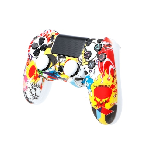 OCDAY Anti-Slip Multicolor Silicone Cover Skin Case + 2 Thumbsticks Grips  Remote Control - product photo 2