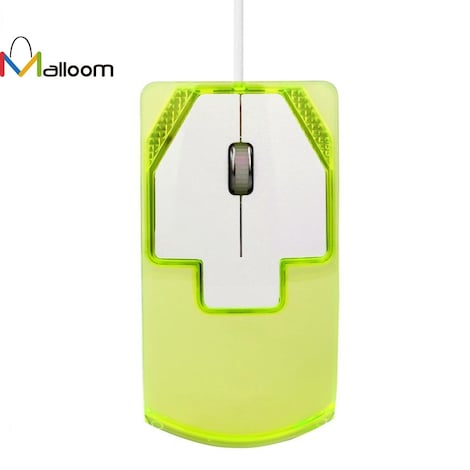 Wired Gaming Optical Mouse 1600 DPI Green