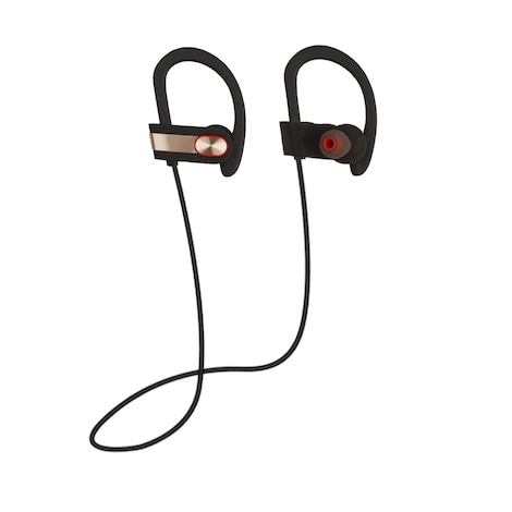 [REYTID] Wireless Sports Earphones w/ In-Line Microphone & Volume Control - HD Sound - Gold/Black Multi-Color - product photo 7