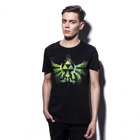 ZELDA: Green Logo Men's T-Shirt M Black