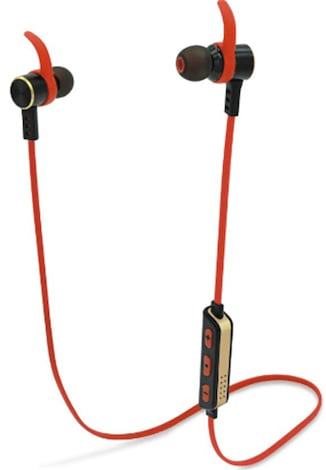 [REYTID] Wireless Bluetooth 4 1 In-Ear Headphones - iPhone Android (with  Volume Control & Mic) - RED Red