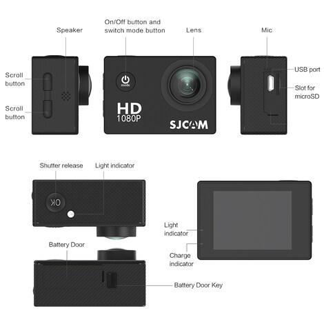 SJCAM SJ4000 12MP Action Camera Underwater Camera Sport Camcorder Golden - product photo 6