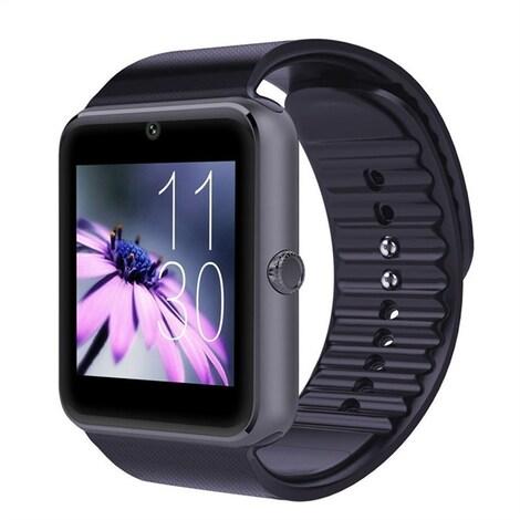 Bluetooth Smartwatch with SIM Card Slot  Black