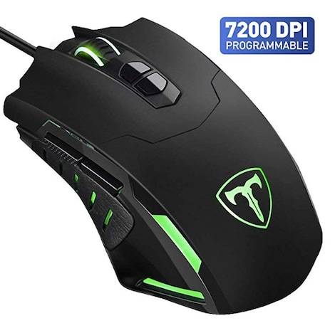 Gaming Mouse【7200 DPI & 7 Programmable Buttons】VicTsing Professional Wired Gaming Mice   - Black