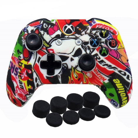 9 in 1 Camo Silicone Protective Cover Skin Case for Microsoft Xbox One X S Controller