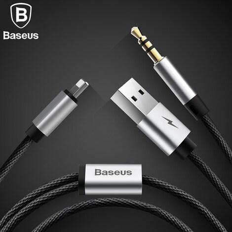 Baseus 2 in 1 Aux Audio Cable