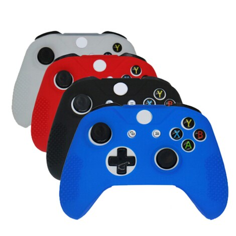 Soft Silicone Rubber Skin Gamepad Protective Case Cover for Microsoft Xbox One S Controller Black XBOX ONE