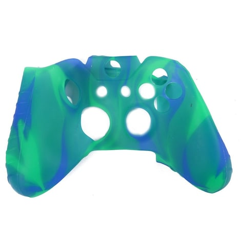 [REYTID] Xbox ONE Controller Skin Silicone Protective Rubber Cover Gel Grip Case - Marble Green/Blue Multi-colour XBOX ONE