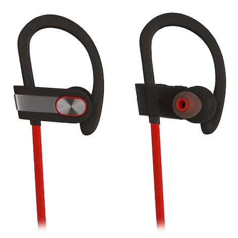 [REYTID] Wireless Sports Earphones w/ In-Line Microphone & Volume Control - HD Sound - Grey/Red Multi-Color