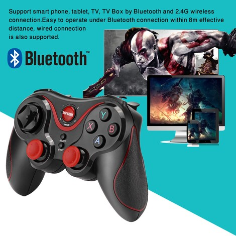 Wireless Bluetooth Connect Gamepad Rechargeable Controller - photo do producto 3