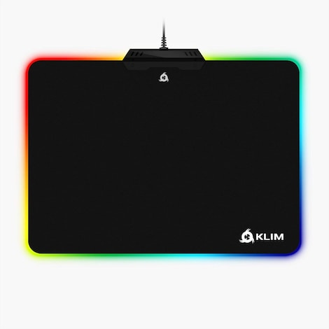KLIM RGB Chroma Mousepad USB, 38.4 x 30.6 x 2.2 cm - Black with Lighting Effects [ New Version ]