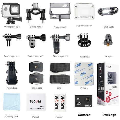 SJCAM SJ4000 12MP Action Camera Underwater Camera Sport Camcorder - product photo 8