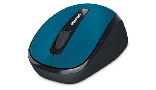 MICROSOFT Wireless Mobile mouse 3500, USB, ER, Aqua Blue Gloss