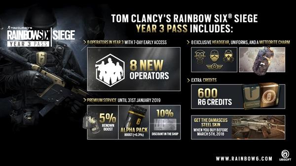 Tom Clancy's Rainbow Six Siege - Year 3 Pass PC Uplay Key