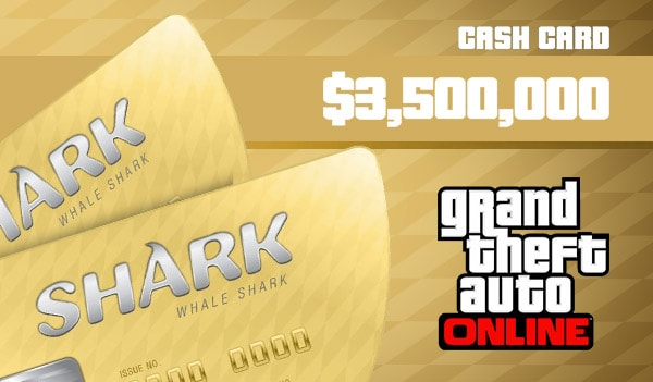 Grand Theft Auto Online: The Whale Shark Cash Card Rockstar GLOBAL 3 500 000 USD Code PC