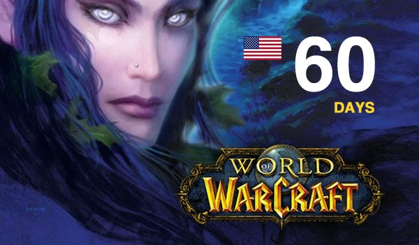 World of Warcraft Time Card Prepaid 60 Days NORTH AMERICA Battle.net