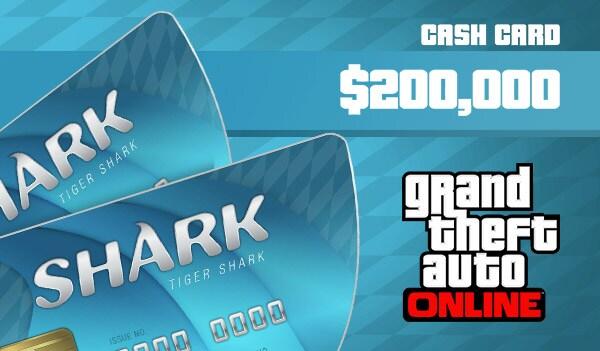 Grand Theft Auto Online: Tiger Shark Cash Card 200 000 PS4 PSN Key GERMANY