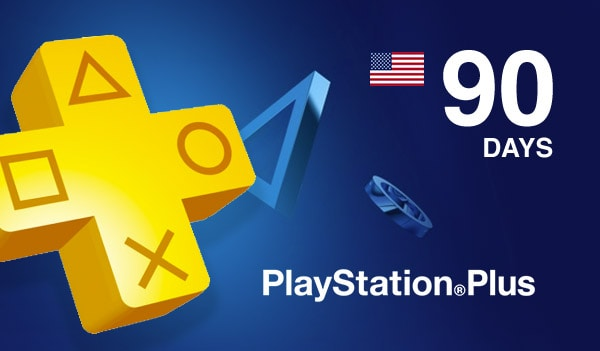 Playstation Plus CARD 90 Days NORTH AMERICA PSN