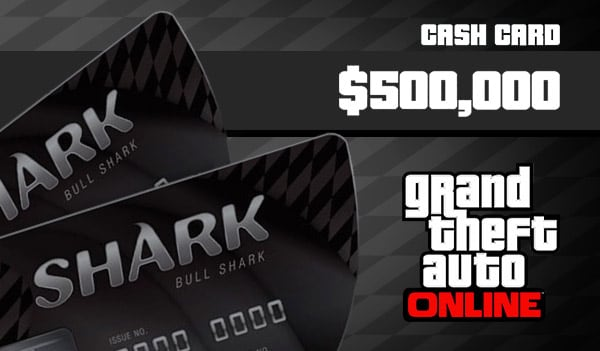 Grand Theft Auto Online: Bull Shark Cash Card Rockstar GLOBAL 500 000 USD Key PC