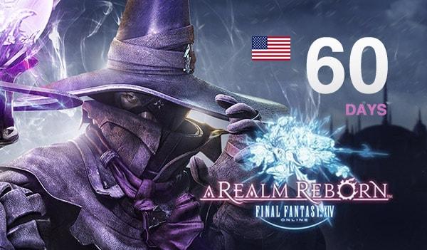 Final Fantasy XIV: A Realm Reborn Time Card Final Fantasy NORTH AMERICA 60 Days