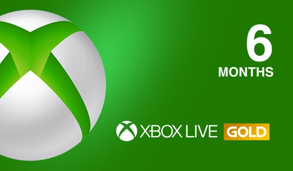 Xbox Live GOLD Subscription Card XBOX LIVE GLOBAL 6 Months