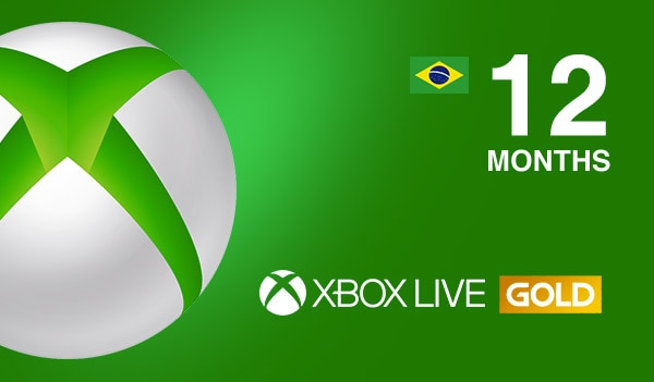 Xbox Live GOLD Subscription Card 12 Months BRAZIL XBOX LIVE