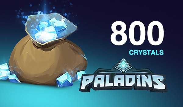 Paladins Crystals GLOBAL 800 Crystals Key