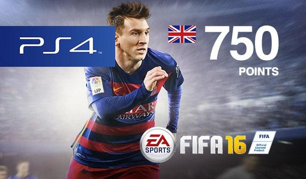 FIFA 16 Points PSN UNITED KINGDOM 750 Points Key PS4